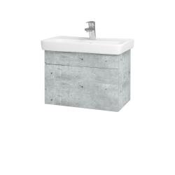 Dreja - Kúpeľňová skriňa SOLO SZZ 60 - D01 Beton / Úchytka T05 / D01 Beton (150310F)