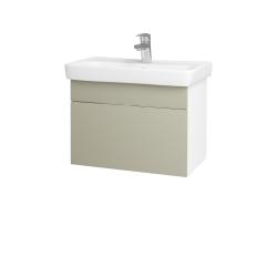 Dreja - Kúpeľňová skriňa SOLO SZZ 60 - N01 Bílá lesk / Úchytka T05 / L04 Béžová vysoký lesk (150358F)