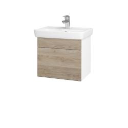 Dreja - Kúpeľňová skriňa SOLO SZZ 50 - N01 Bílá lesk / Úchytka T05 / D17 Colorado (205331F)