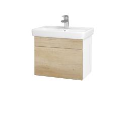 Dreja - Kúpeľňová skriňa SOLO SZZ 55 - N01 Bílá lesk / Úchytka T05 / D15 Nebraska (205515F)