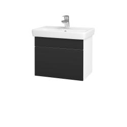 Dreja - Kúpeľňová skriňa SOLO SZZ 55 - N01 Bílá lesk / Úchytka T05 / N03 Graphite (205560F)