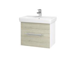 Dreja - Kúpeľňová skriňa SOLO SZZ 55 - N01 Bílá lesk / Úchytka T02 / D21 Tobacco (278991B)