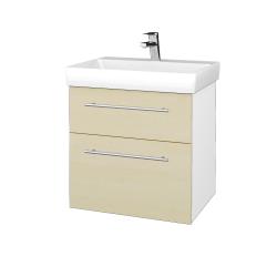 Dreja - Kúpeľňová skrinka PROJECT SZZ2 60 - N01 Bílá lesk / Úchytka T02 / D02 Bříza (322595B)