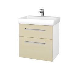 Dreja - Kúpeľňová skrinka PROJECT SZZ2 60 - N01 Bílá lesk / Úchytka T04 / D02 Bříza (322595E)