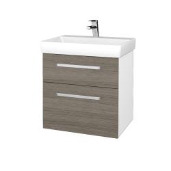 Dreja - Kúpeľňová skrinka PROJECT SZZ2 60 - N01 Bílá lesk / Úchytka T01 / D03 Cafe (322601A)