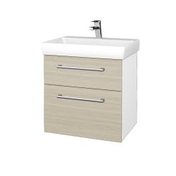 Dreja - Kúpeľňová skrinka PROJECT SZZ2 60 - N01 Bílá lesk / Úchytka T03 / D04 Dub (322618C)