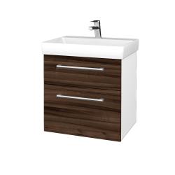 Dreja - Kúpeľňová skrinka PROJECT SZZ2 60 - N01 Bílá lesk / Úchytka T03 / D06 Ořech (322632C)