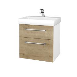 Dreja - Kúpeľňová skrinka PROJECT SZZ2 60 - N01 Bílá lesk / Úchytka T03 / D09 Arlington (322656C)
