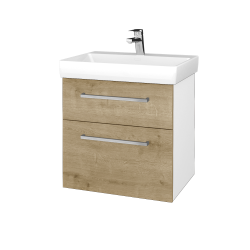 Dreja - Kúpeľňová skrinka PROJECT SZZ2 60 - N01 Bílá lesk / Úchytka T04 / D09 Arlington (322656E)