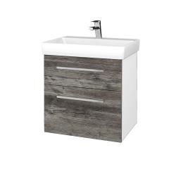 Dreja - Kúpeľňová skrinka PROJECT SZZ2 60 - N01 Bílá lesk / Úchytka T04 / D10 Borovice Jackson (322663E)