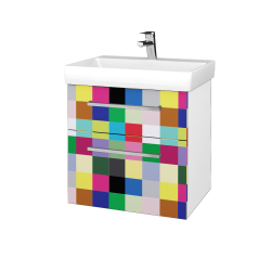 Dreja - Kúpeľňová skrinka PROJECT SZZ2 60 - N01 Bílá lesk / Úchytka T04 / IND Individual (322724E)
