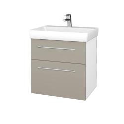 Dreja - Kúpeľňová skrinka PROJECT SZZ2 60 - N01 Bílá lesk / Úchytka T02 / L04 Béžová vysoký lesk (322748B)