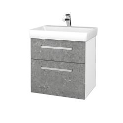 Dreja - Kúpeľňová skrinka PROJECT SZZ2 60 - N01 Bílá lesk / Úchytka T01 / D20 Galaxy (322830A)