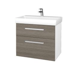 Dreja - Kúpeľňová skrinka PROJECT SZZ2 70 - N01 Bílá lesk / Úchytka T01 / D03 Cafe (323066A)