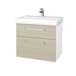 Dreja - Kúpeľňová skrinka PROJECT SZZ2 70 - N01 Bílá lesk / Úchytka T01 / D04 Dub (323073A)