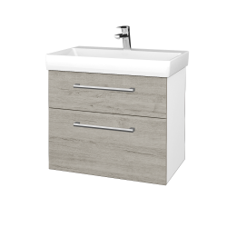 Dreja - Kúpeľňová skrinka PROJECT SZZ2 70 - N01 Bílá lesk / Úchytka T03 / D05 Oregon (323080C)