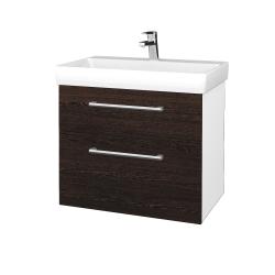 Dreja - Kúpeľňová skrinka PROJECT SZZ2 70 - N01 Bílá lesk / Úchytka T03 / D08 Wenge (323103C)