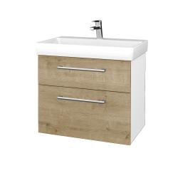 Dreja - Kúpeľňová skrinka PROJECT SZZ2 70 - N01 Bílá lesk / Úchytka T03 / D09 Arlington (323110C)