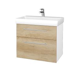 Dreja - Kúpeľňová skrinka PROJECT SZZ2 70 - N01 Bílá lesk / Úchytka T02 / D15 Nebraska (323134B)
