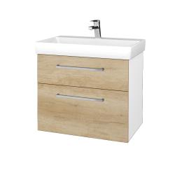 Dreja - Kúpeľňová skrinka PROJECT SZZ2 70 - N01 Bílá lesk / Úchytka T04 / D15 Nebraska (323134E)