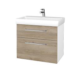 Dreja - Kúpeľňová skrinka PROJECT SZZ2 70 - N01 Bílá lesk / Úchytka T04 / D17 Colorado (323158E)