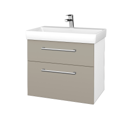 Dreja - Kúpeľňová skrinka PROJECT SZZ2 70 - N01 Bílá lesk / Úchytka T03 / M05 Béžová mat (323172C)