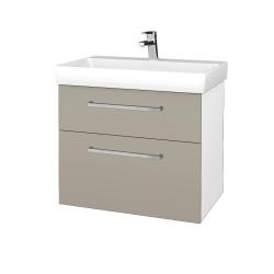 Dreja - Kúpeľňová skrinka PROJECT SZZ2 70 - N01 Bílá lesk / Úchytka T04 / M05 Béžová mat (323172E)