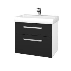 Dreja - Kúpeľňová skrinka PROJECT SZZ2 70 - N01 Bílá lesk / Úchytka T01 / L03 Antracit vysoký lesk (323196A)