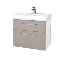 Dreja - Kúpeľňová skrinka PROJECT SZZ2 70 - N01 Bílá lesk / Úchytka T04 / N07 Stone (323233E)