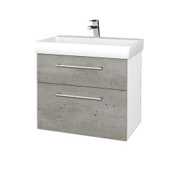 Dreja - Kúpeľňová skrinka PROJECT SZZ2 70 - N01 Bílá lesk / Úchytka T03 / D01 Beton (323264C)
