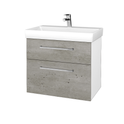 Dreja - Kúpeľňová skrinka PROJECT SZZ2 70 - N01 Bílá lesk / Úchytka T04 / D01 Beton (323264E)
