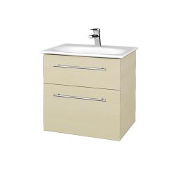 Dreja - Kúpeľňová skrinka PROJECT SZZ2 60 - D02 Bříza / Úchytka T02 / D02 Bříza (328207B)
