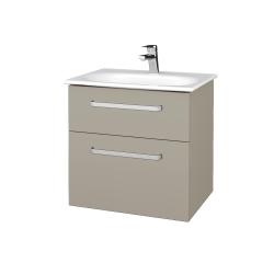 Dreja - Kúpeľňová skrinka PROJECT SZZ2 60 - L04 Béžová vysoký lesk / Úchytka T01 / L04 Béžová vysoký lesk (328351A)
