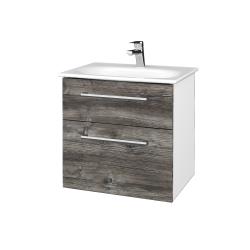 Dreja - Kúpeľňová skrinka PROJECT SZZ2 60 - N01 Bílá lesk / Úchytka T03 / D10 Borovice Jackson (328474C)
