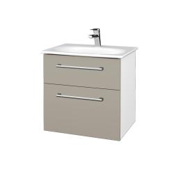Dreja - Kúpeľňová skrinka PROJECT SZZ2 60 - N01 Bílá lesk / Úchytka T03 / M05 Béžová mat (328528C)