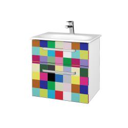Dreja - Kúpeľňová skrinka PROJECT SZZ2 60 - N01 Bílá lesk / Úchytka T01 / IND Individual (328535A)