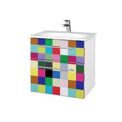 Dreja - Kúpeľňová skrinka PROJECT SZZ2 60 - N01 Bílá lesk / Úchytka T02 / IND Individual (328535B)