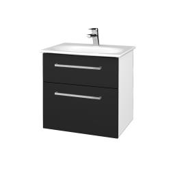 Dreja - Kúpeľňová skrinka PROJECT SZZ2 60 - N01 Bílá lesk / Úchytka T04 / L03 Antracit vysoký lesk (328542E)