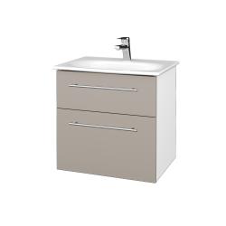Dreja - Kúpeľňová skrinka PROJECT SZZ2 60 - N01 Bílá lesk / Úchytka T02 / N07 Stone (328580B)