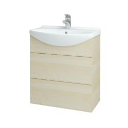Dreja - Kúpeľňová skriňa TAKE IT SZZ2 65 - D02 Bříza / Úchytka T05 / D02 Bříza (133764F)