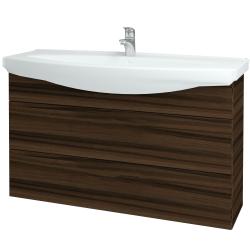 Dreja - Kúpeľňová skriňa TAKE IT SZZ2 120 - D06 Ořech / Úchytka T05 / D06 Ořech (134365F)