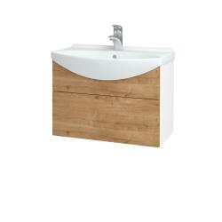 Dreja - Kúpeľňová skriňa TAKE IT SZZ 65 - N01 Bílá lesk / Úchytka T05 / D09 Arlington (152444F)