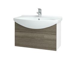 Dreja - Kúpeľňová skriňa TAKE IT SZZ 75 - N01 Bílá lesk / Úchytka T05 / D03 Cafe (152482F)