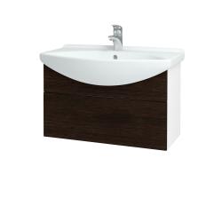 Dreja - Kúpeľňová skriňa TAKE IT SZZ 75 - N01 Bílá lesk / Úchytka T05 / D08 Wenge (152529F)