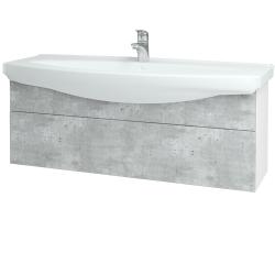 Dreja - Kúpeľňová skriňa TAKE IT SZZ 120 - N01 Bílá lesk / Úchytka T05 / D01 Beton (152734F)