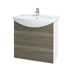 Dreja - Kúpeľňová skriňa TAKE IT SZZ2 75 - N01 Bílá lesk / Úchytka T05 / D03 Cafe (152932F)
