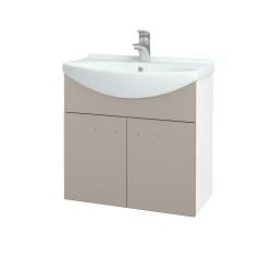 Dreja - Kúpeľňová skriňa TAKE IT SZD2 65 - N01 Bílá lesk / Úchytka T05 / N07 Stone (205942F)