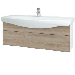 Dreja - Kúpeľňová skriňa TAKE IT SZZ 120 - N01 Bílá lesk / Úchytka T05 / D17 Colorado (207359F)