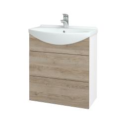 Dreja - Kúpeľňová skriňa TAKE IT SZZ2 65 - N01 Bílá lesk / Úchytka T05 / D17 Colorado (207519F)