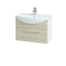 Dreja - Kúpeľňová skriňa TAKE IT SZZ 65 - N01 Bílá lesk / Úchytka T04 / D21 Tobacco (279370E)